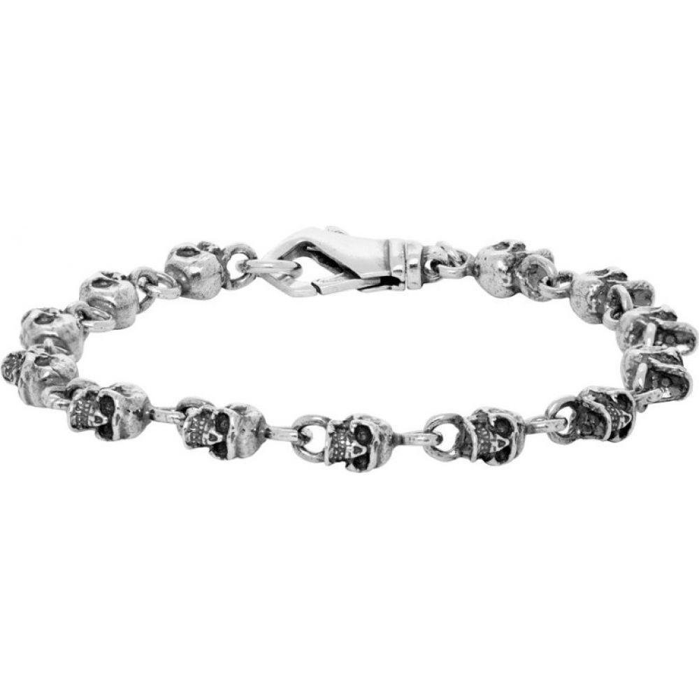 エマニュエレ ビコッキ Emanuele Bicocchi メンズ ブレスレット ジュエリー・アクセサリー【Silver Teschini Skulls Bracelet】Silver