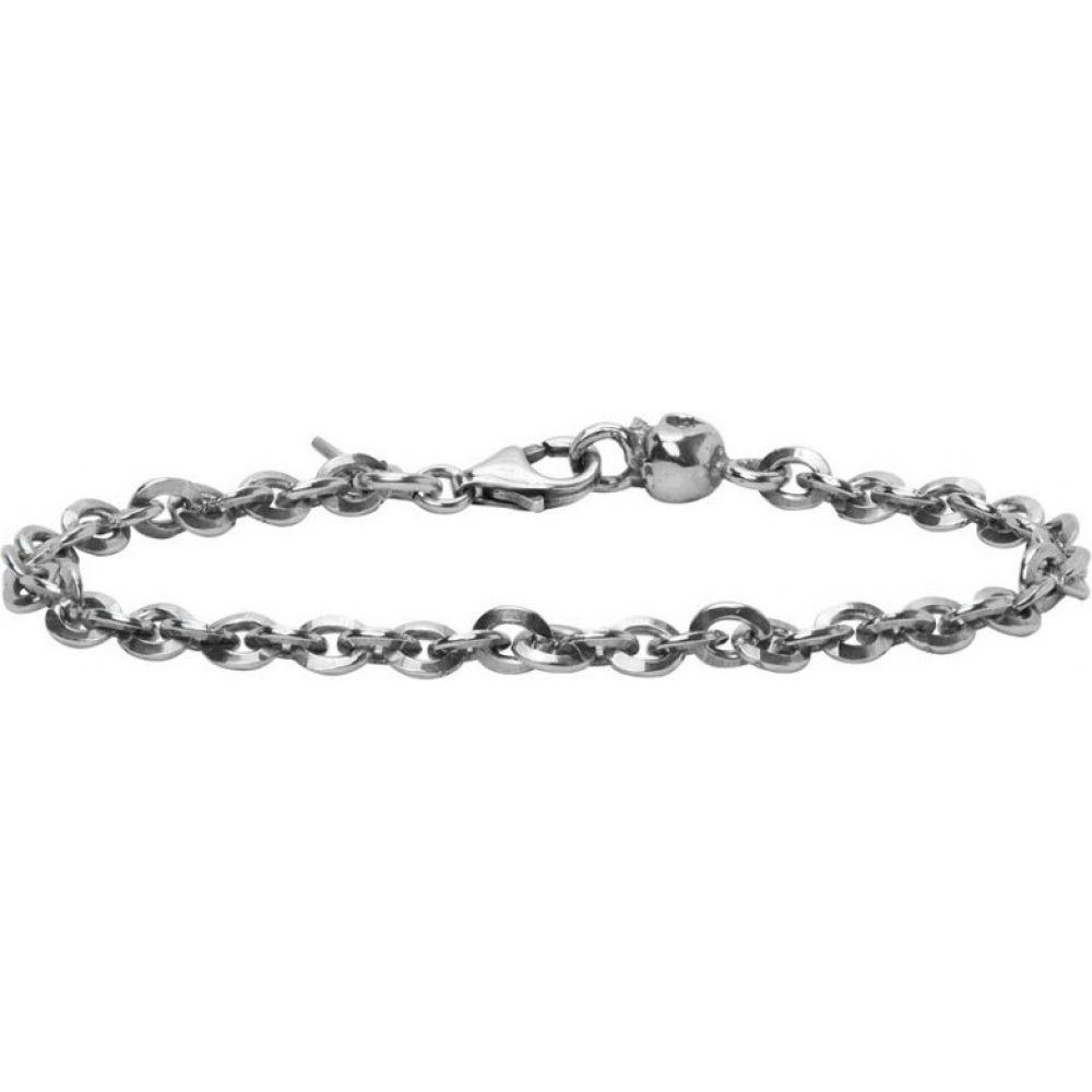 エマニュエレ ビコッキ Emanuele Bicocchi メンズ ブレスレット ジュエリー・アクセサリー【SSENSE Exclusive Silver Skull Chain Bracelet】Silver