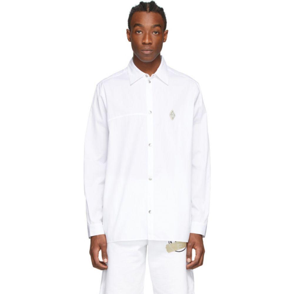 アコールドウォール A-COLD-WALL* メンズ シャツ トップス【White Rhombus Badge Shirt】White
