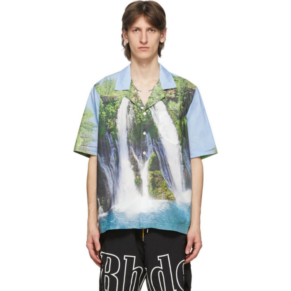 ルード Rhude メンズ トップス 【Blue Waterfalls Shirt】Multi