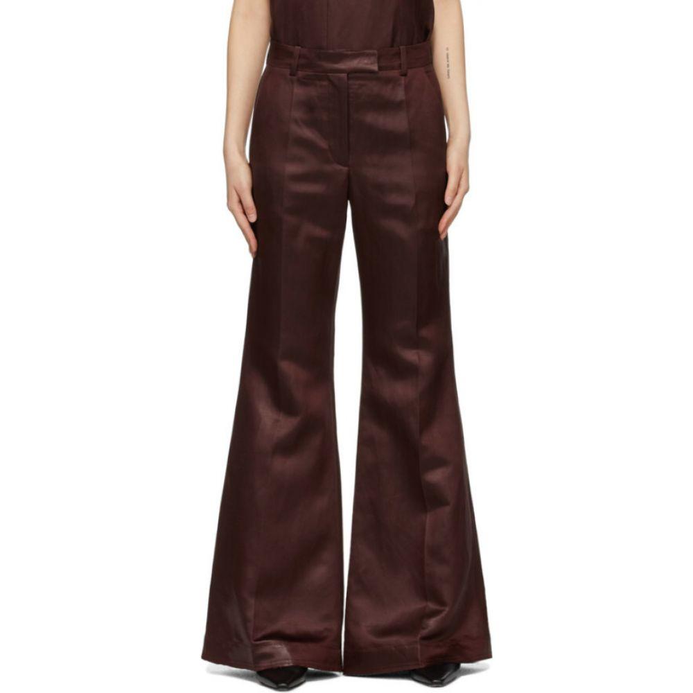 ジョゼフ Joseph レディース ボトムス・パンツ 【Burgundy Linen Tana Trousers】Merlot