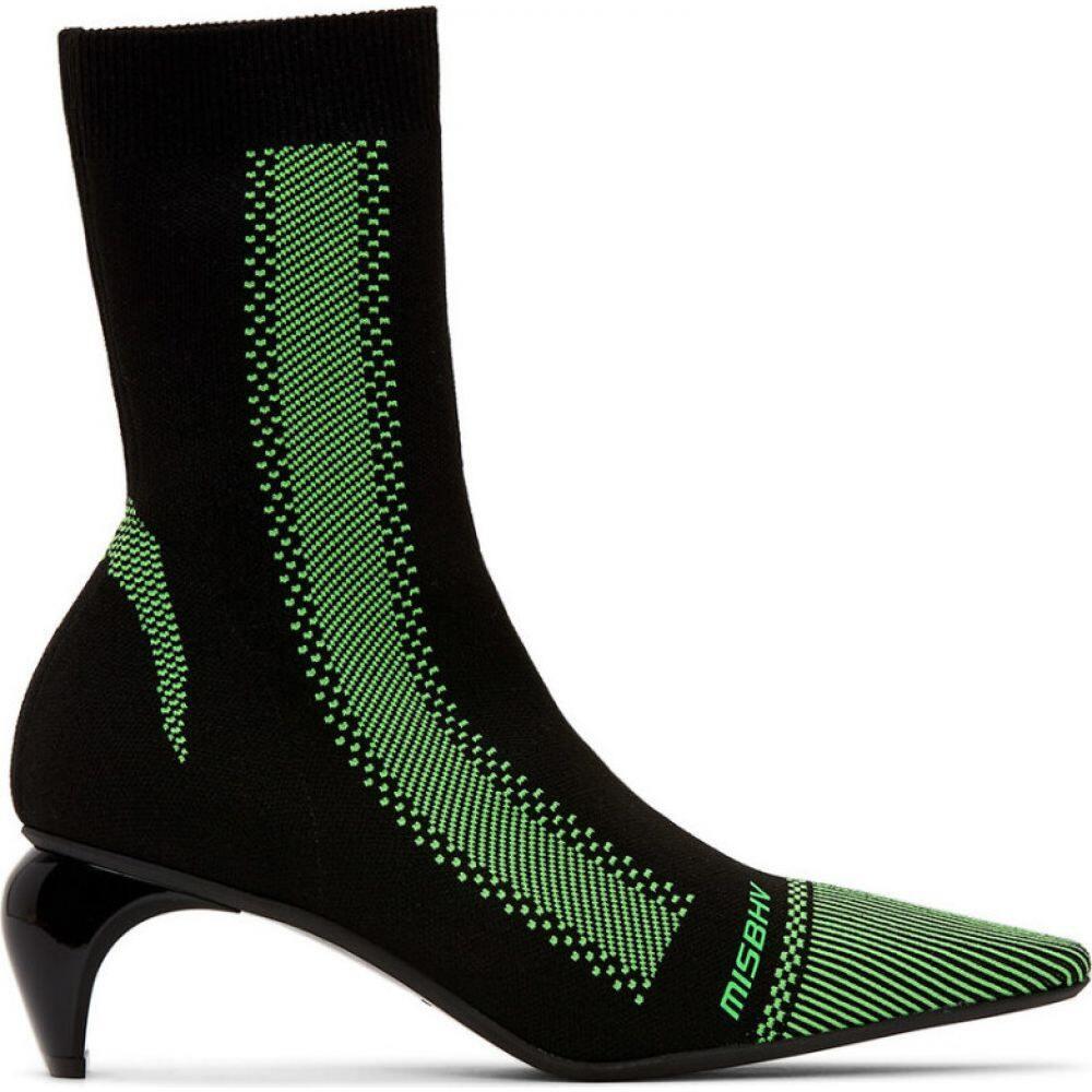 ミスビヘイブ MISBHV レディース ブーツ ショートブーツ シューズ・靴 BlackGreen Knit Ankle Boots Black GreenWE9H2ID