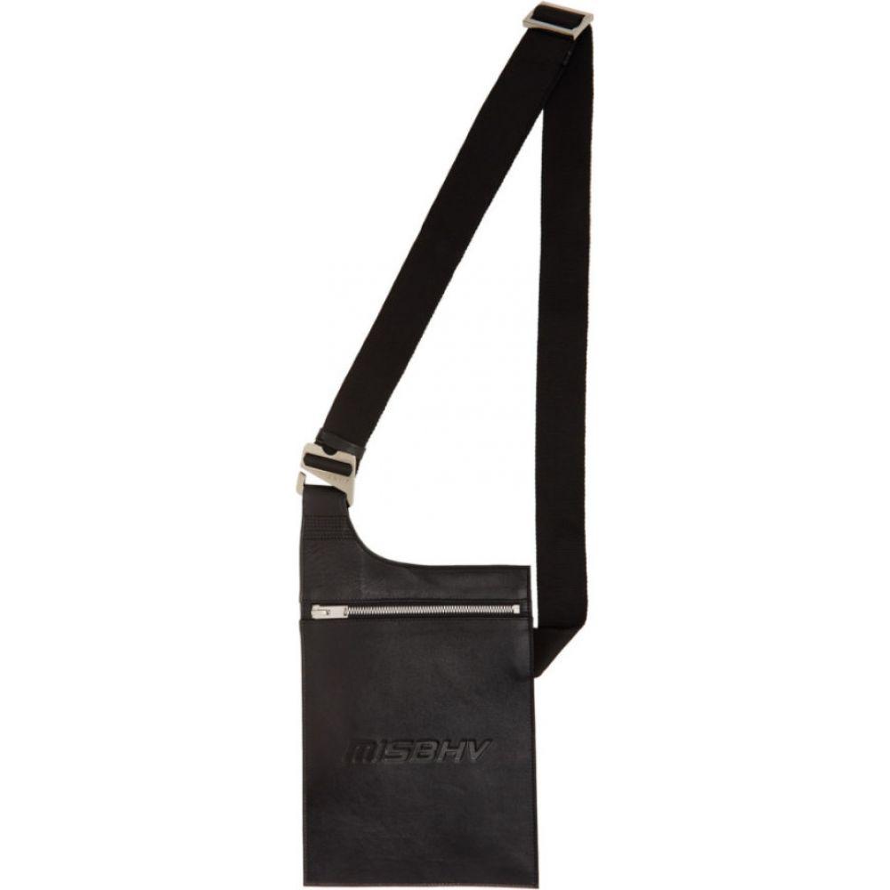 ミスビヘイブ MISBHV メンズ ショルダーバッグ バッグ【Black Leather Crossbody Pouch】Black