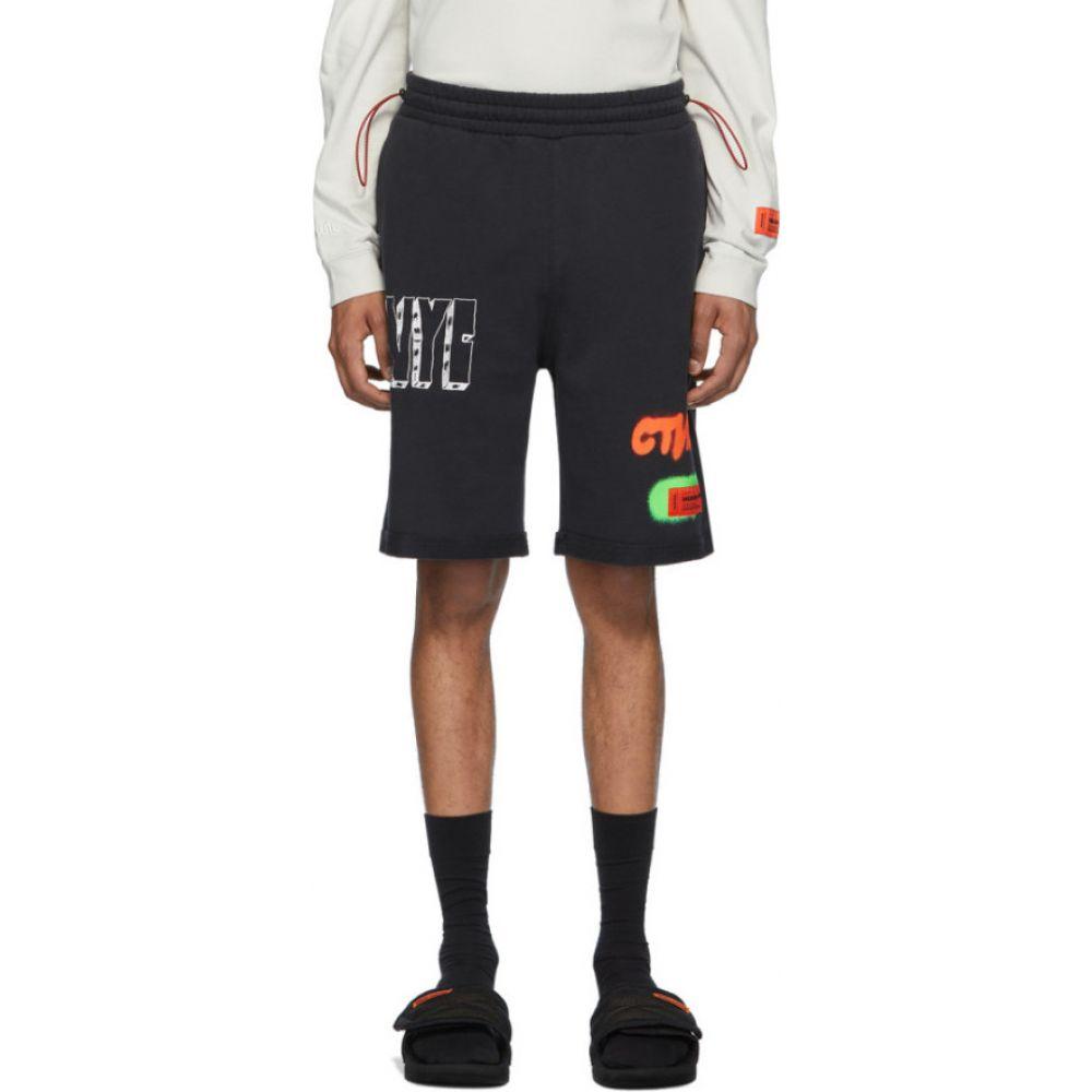 ヘロン プレストン Heron Preston メンズ ショートパンツ ボトムス・パンツ【Black 'Style' Sweat Shorts】Black/White
