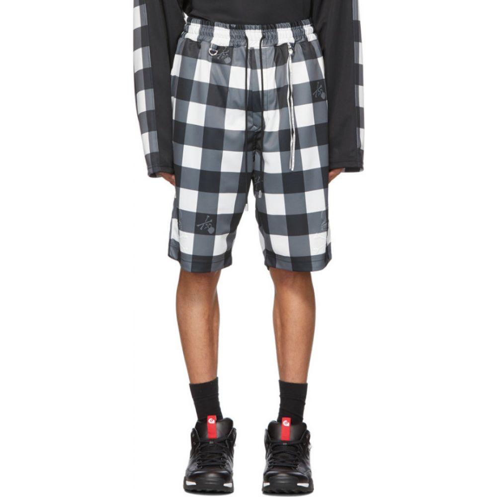 マスターマインド mastermind WORLD メンズ ショートパンツ ボトムス・パンツ【White & Black Block Check Shorts】Black/White