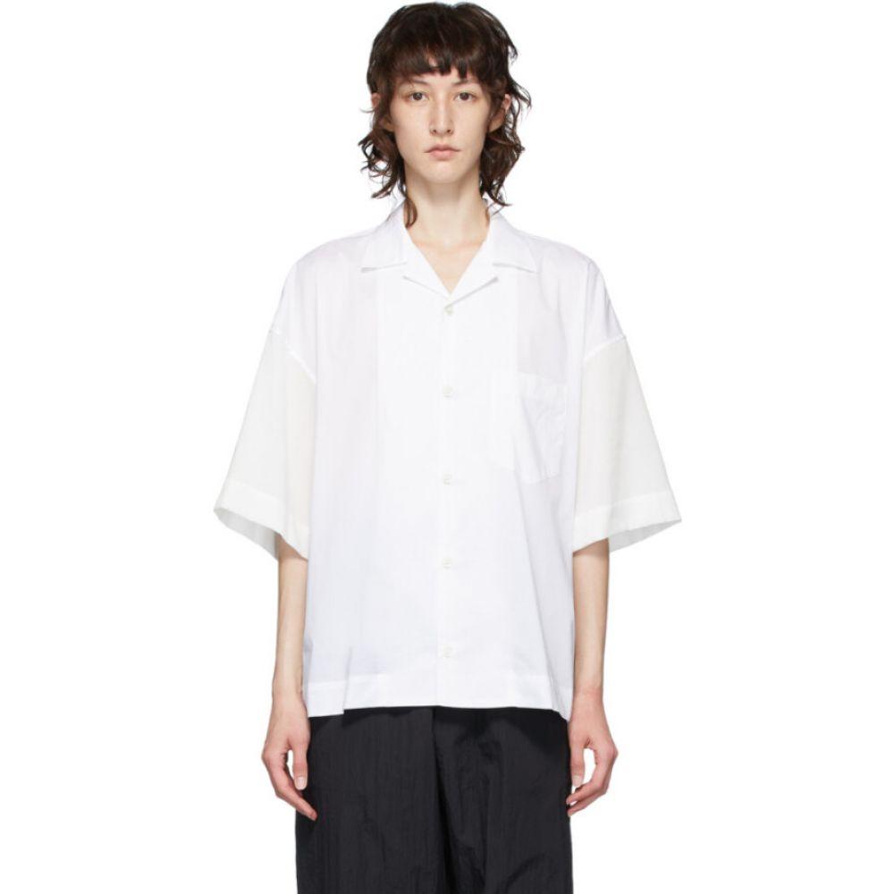 フミト ガンリュウ Fumito Ganryu レディース ブラウス・シャツ トップス【White Combination Shirt】White
