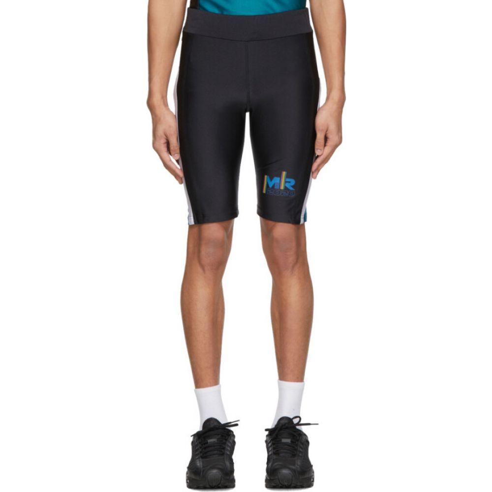 マーティン ローズ Martine Rose メンズ 自転車 ショートパンツ ボトムス・パンツ【SSENSE Exclusive Black & Green Cycling Shorts】Jade matt