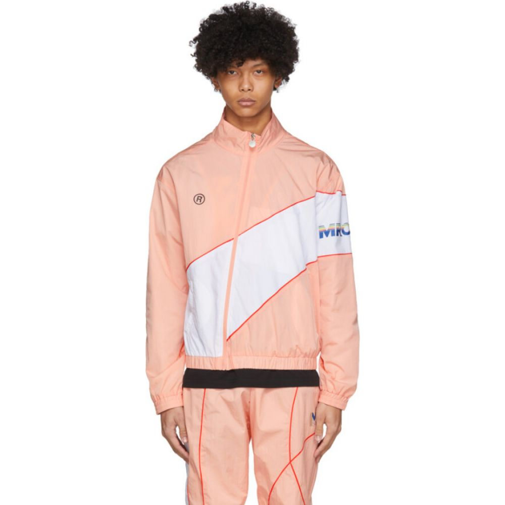 マーティン ローズ Martine Rose メンズ ジャージ アウター【SSENSE Exclusive Pink Twist Track Jacket】Light pink