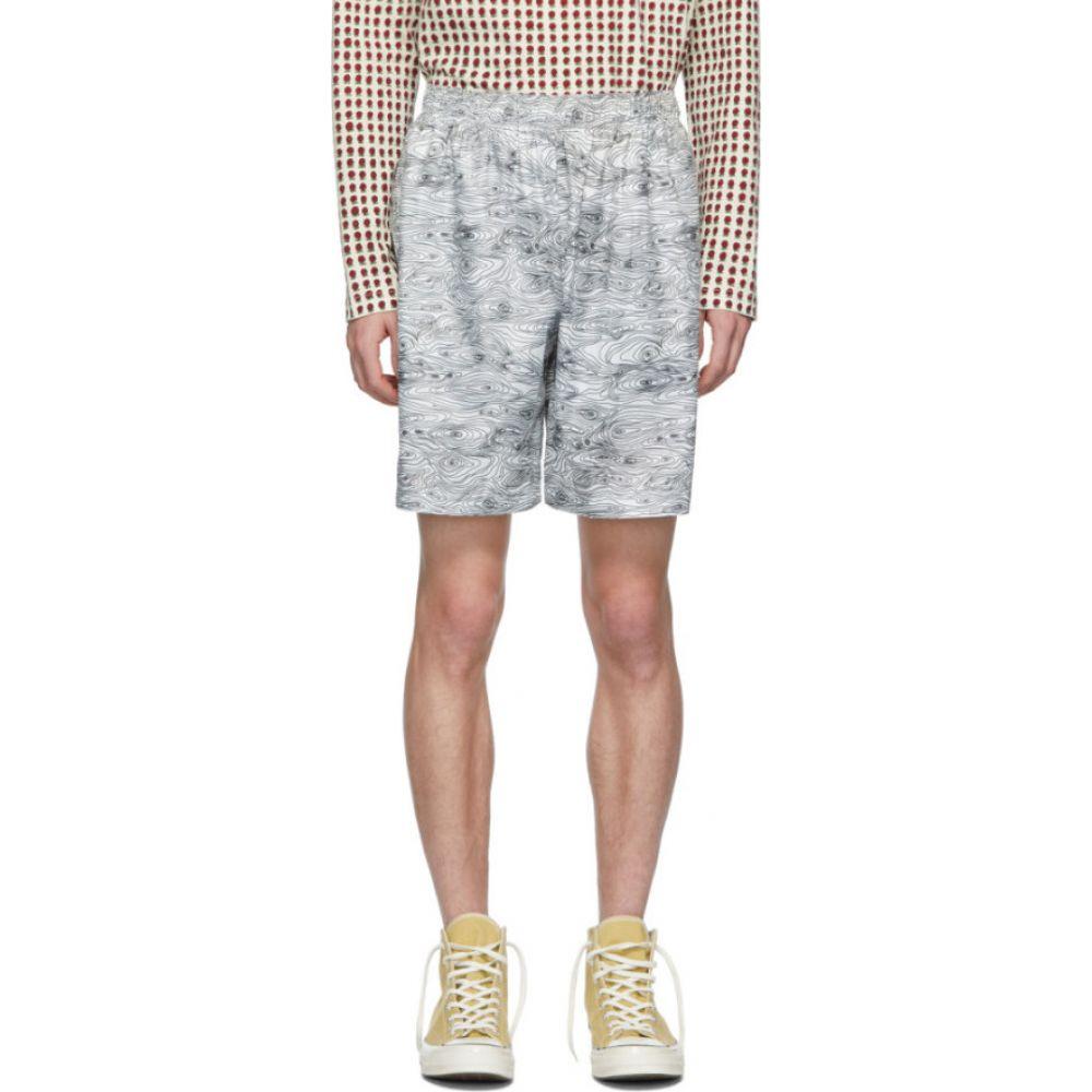 ブレス Bless メンズ ショートパンツ ボトムス・パンツ【White Woodgrain Sport Shorts】