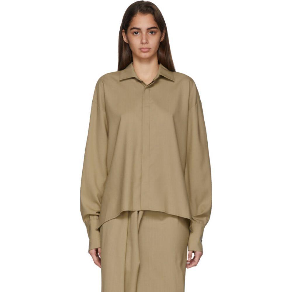 アウェイク モード A.W.A.K.E. MODE レディース ブラウス・シャツ トップス【Beige Business Woman Shirt】Beige