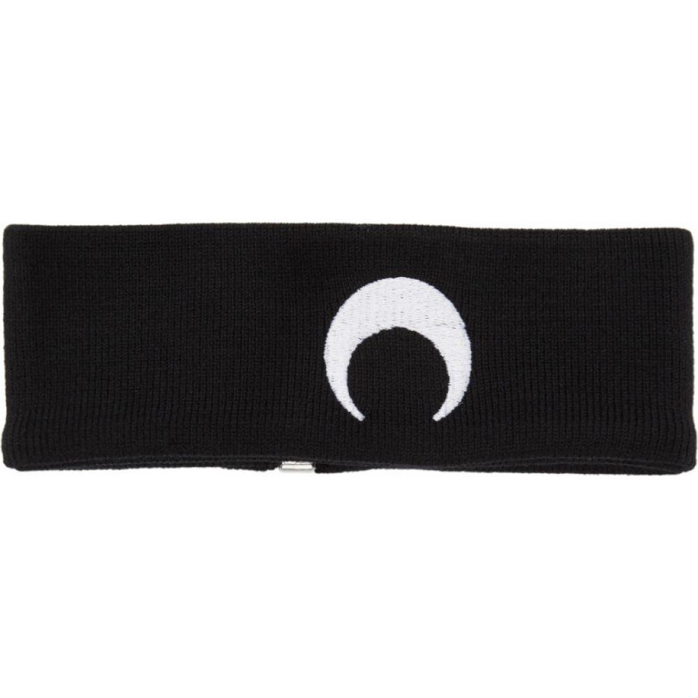 マリーン セル Marine Serre メンズ ネックレス チョーカー ジュエリー・アクセサリー【Black Knit Moon Choker】Black/White/Moon