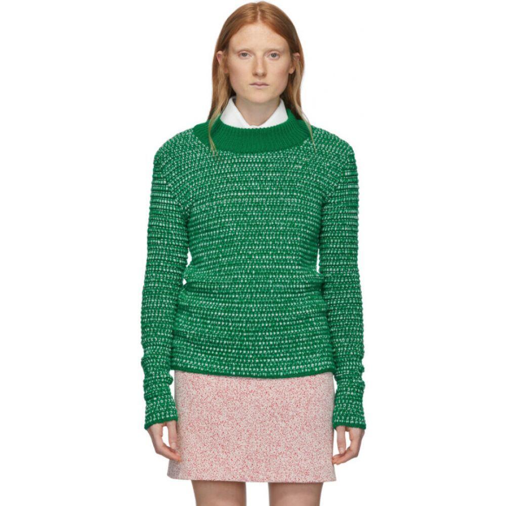 ナマチェコ Namacheko レディース ニット・セーター トップス【Green & White Wool Deng Sweater】Green/White