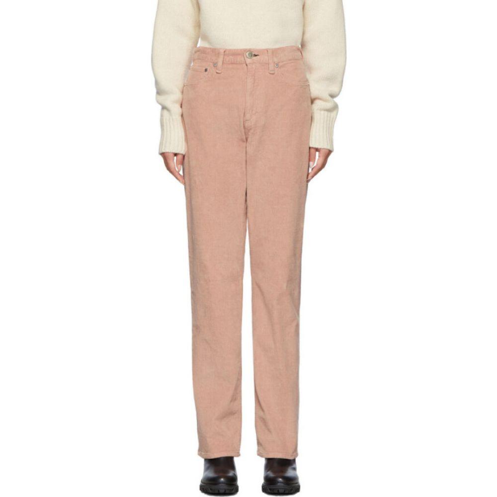 ラグ&ボーン rag & bone レディース ボトムス・パンツ 【Pink Corduroy Ruth Super High-Rise Trousers】Pink