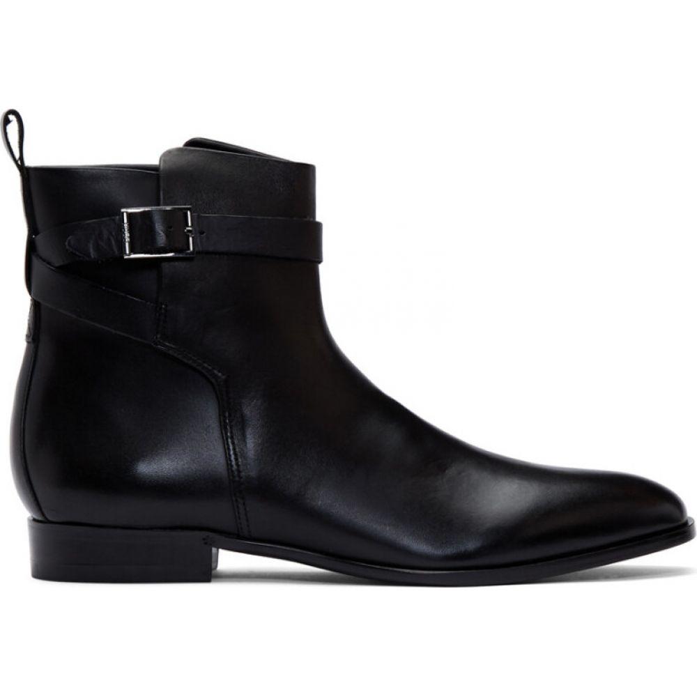 ヒューゴ ボス Hugo メンズ ブーツ シューズ・靴【Black Cult Buckle Boots】Black