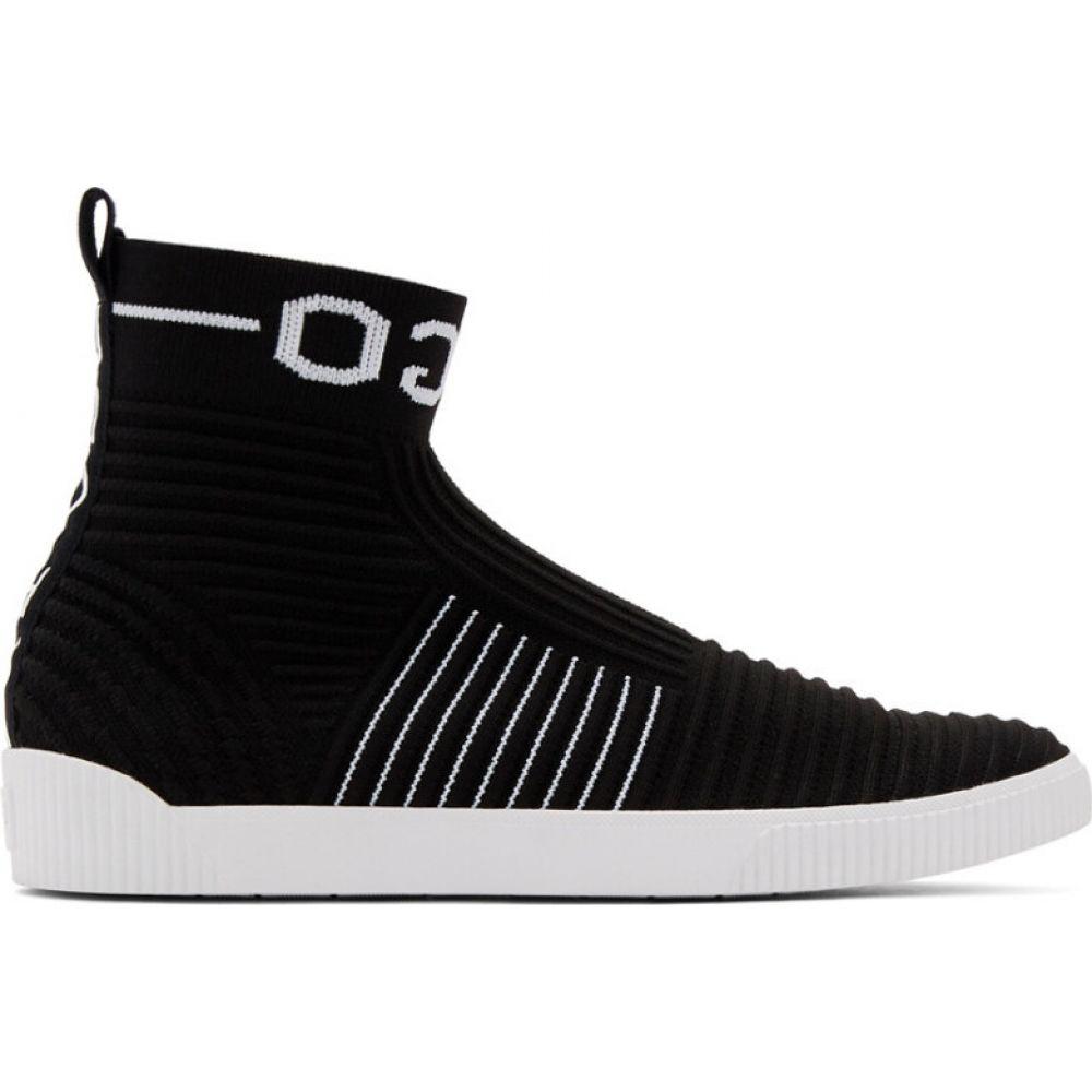 ヒューゴ ボス Hugo メンズ スニーカー シューズ・靴【Black Knit Zero High-Top Sneakers】Black