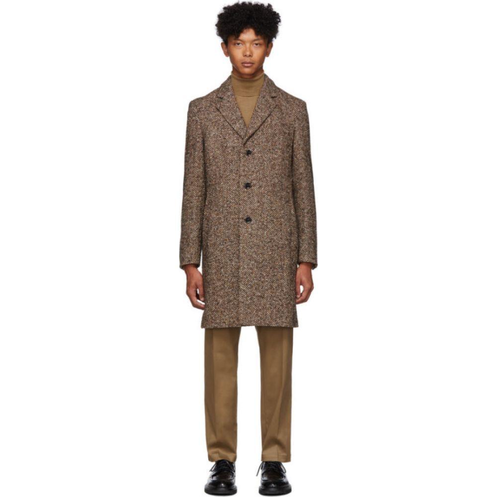 ヒューゴ ボス Boss メンズ コート アウター【Brown Herringbone Nye Coat】Brown