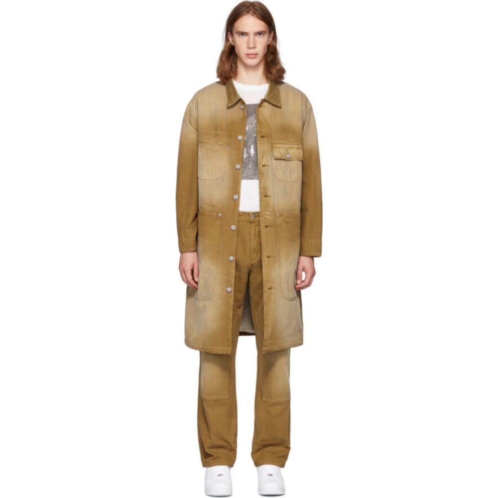 ビリー Billy メンズ トレンチコート アウター【Tan Canvas Workwear Trench Coat】Tobacco