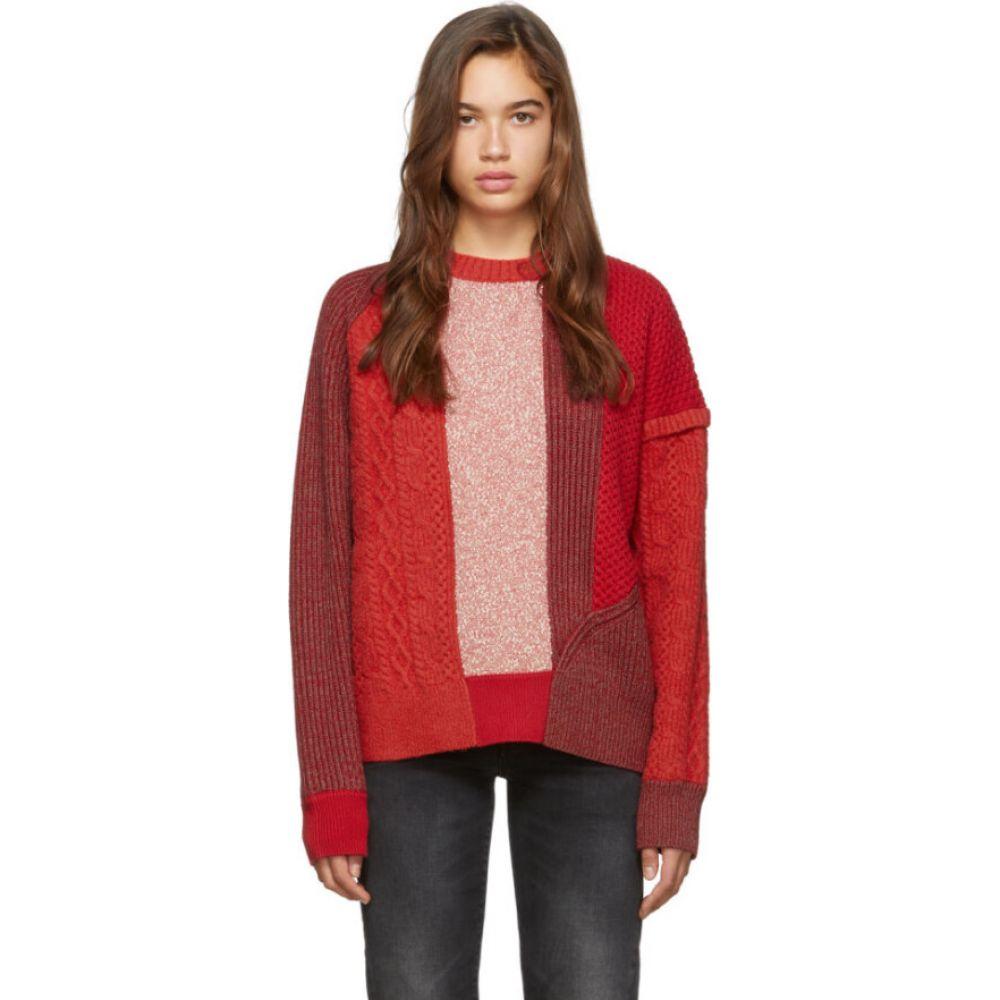 アレキサンダー マックイーン McQ Alexander McQueen レディース ニット・セーター トップス【Red Patchwork Sweater】Red