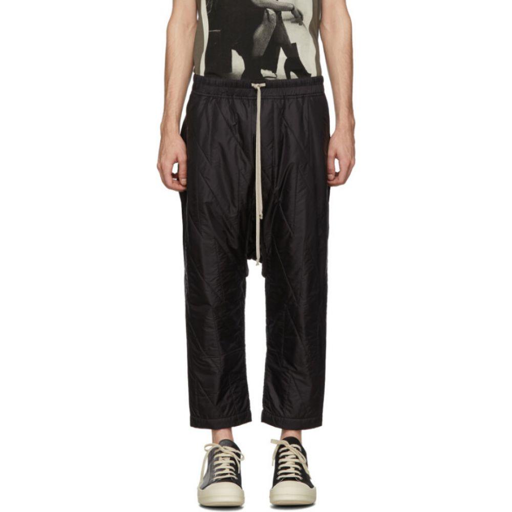 リック オウエンス Rick Owens Drkshdw メンズ スウェット・ジャージ ボトムス・パンツ【Black Drawstring Cropped Lounge Pants】Black
