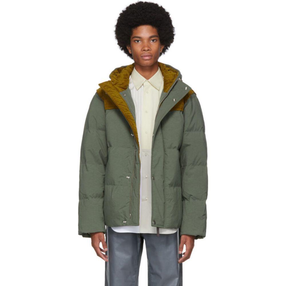 アクネ ストゥディオズ Acne Studios メンズ ダウン・中綿ジャケット フード アウター【Khaki Down Hooded Jacket】Khaki green