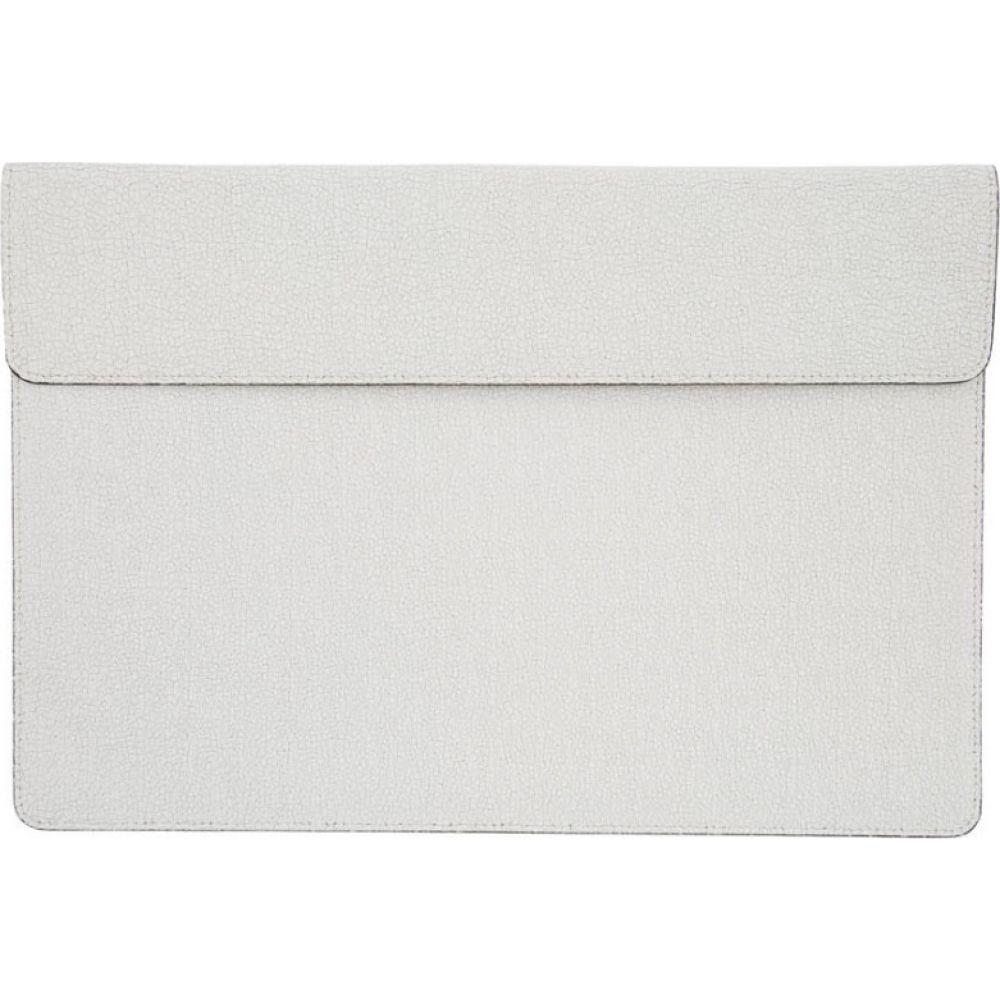 コモン プロジェクト Common Projects メンズ ビジネスバッグ・ブリーフケース バッグ【White Cracked Document Dossier】Cracked white