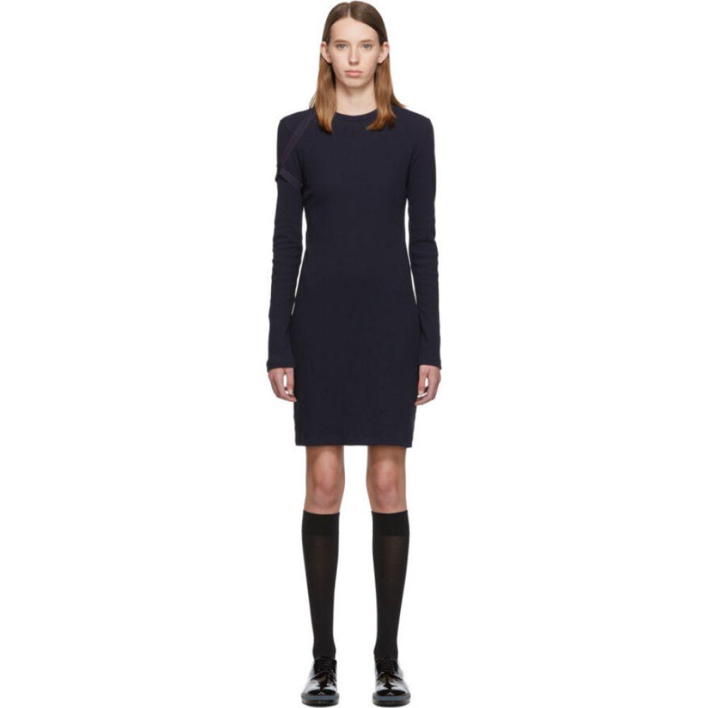 ヘルムート ラング Helmut Lang レディース ワンピース ワンピース・ドレス【Navy Crepe Harness Short Dress】Ink