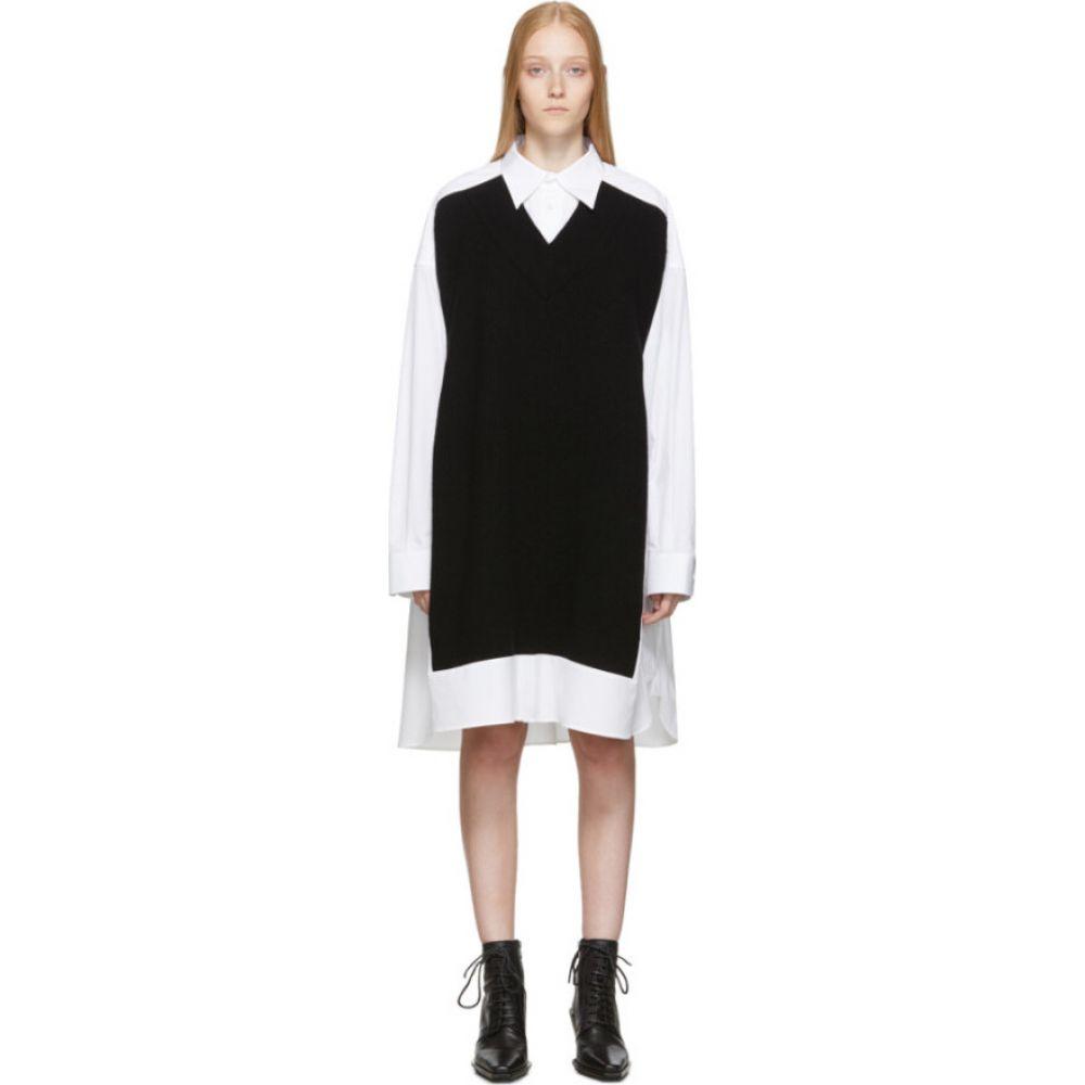 メゾン マルジェラ Maison Margiela レディース ワンピース ワンピース・ドレス【White & Navy Cotton Poplin Dress】White/Navy