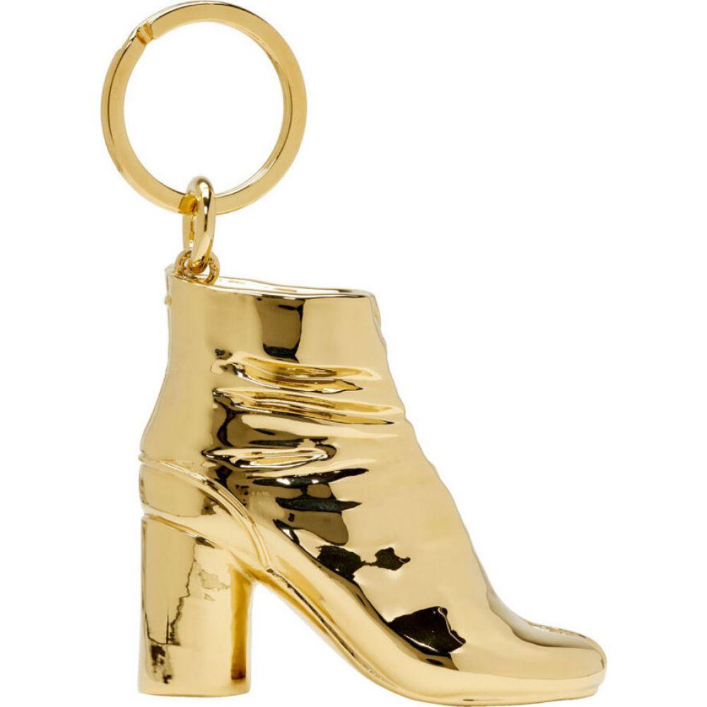 メゾン マルジェラ Maison Margiela メンズ キーホルダー キーチェーン【SSENSE Exclusive Gold Tabi Boot Keychain】Shiny gold
