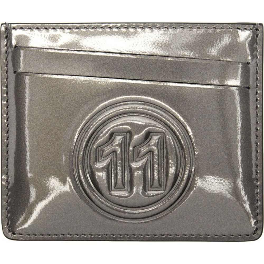 メゾン マルジェラ Maison Margiela メンズ カードケース・名刺入れ カードホルダー【Grey Metallic Card Holder】Metal