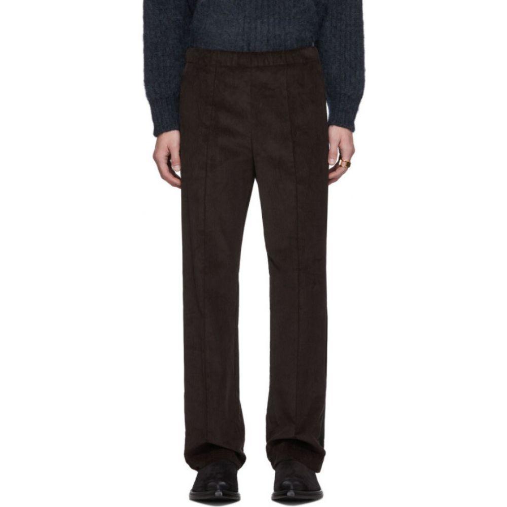 メゾン マルジェラ Maison Margiela メンズ ボトムス・パンツ 【Brown Corduroy Velvet Band Trousers】Dark brown
