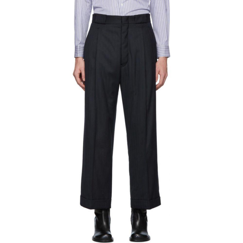 メゾン マルジェラ Maison Margiela メンズ ボトムス・パンツ 【Navy Stripe Tailoring Trousers】Navy blue