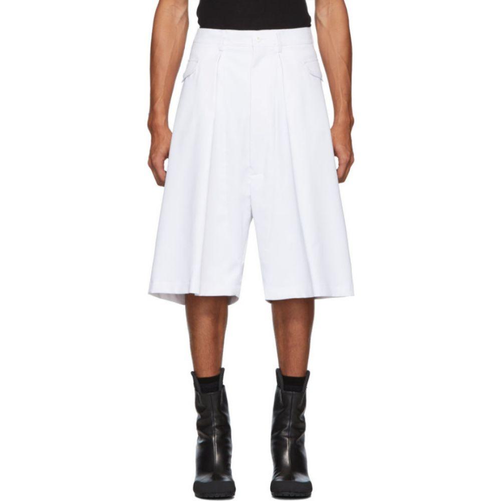ランダム アイデンティティーズ Random Identities メンズ ショートパンツ ボトムス・パンツ【White Hip Pocket Shorts】White