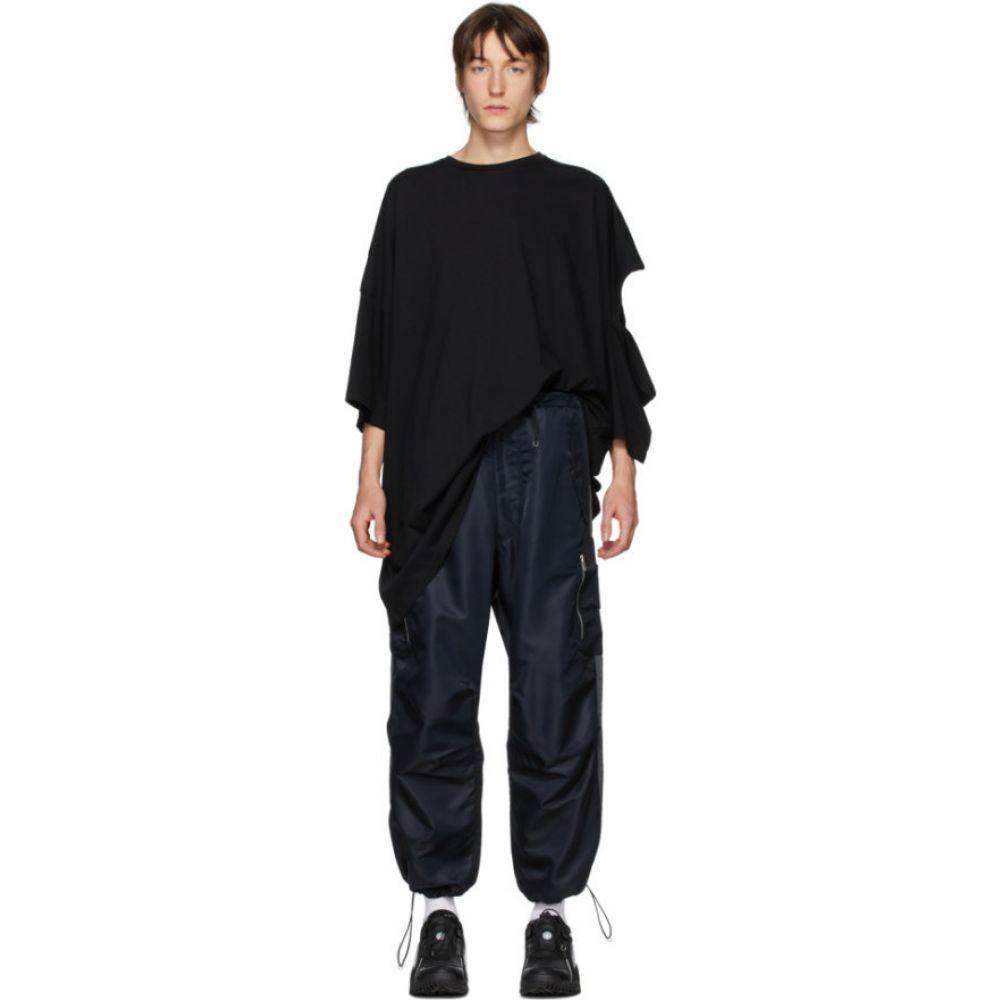 ランダム アイデンティティーズ Random Identities メンズ Tシャツ トップス【Black Oversize Cut-Out T-Shirt】Black