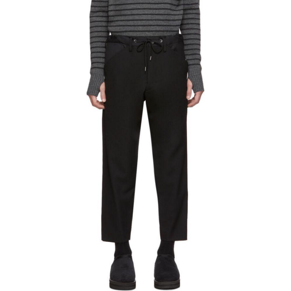 フミト ガンリュウ Fumito Ganryu メンズ ボトムス・パンツ 【Black Wool Kutra Trousers】Black