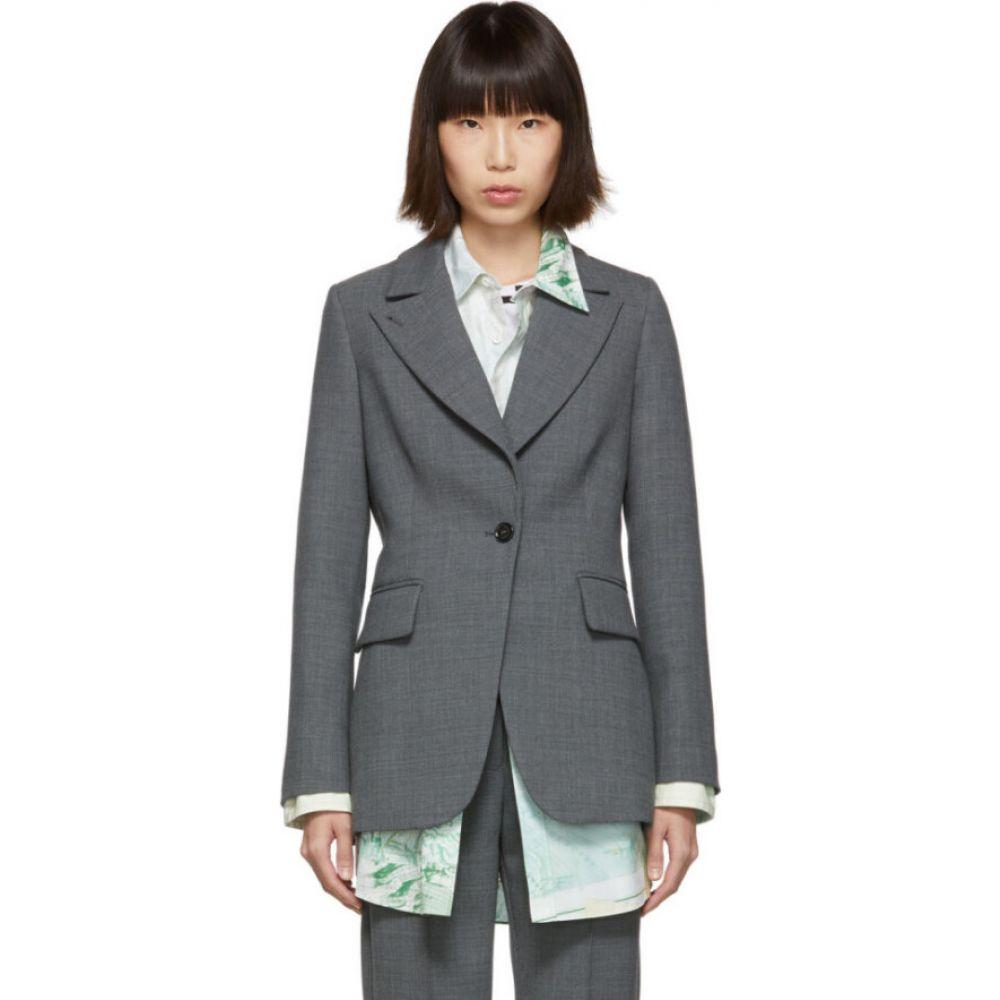メゾン マルジェラ MM6 Maison Margiela レディース スーツ・ジャケット アウター【Grey Suiting Blazer】Dark grey