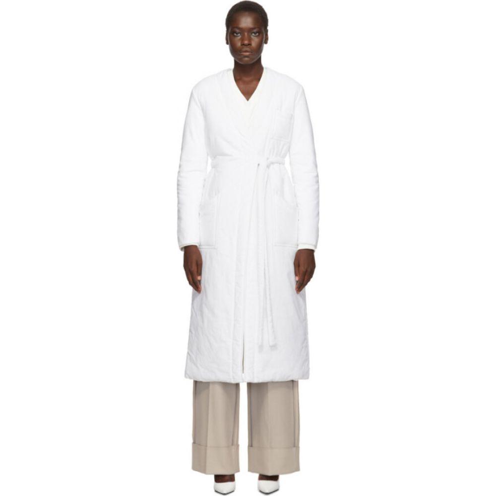 メゾン マルジェラ MM6 Maison Margiela レディース コート ラップコート アウター【White Padded Wrap Coat】Off-white