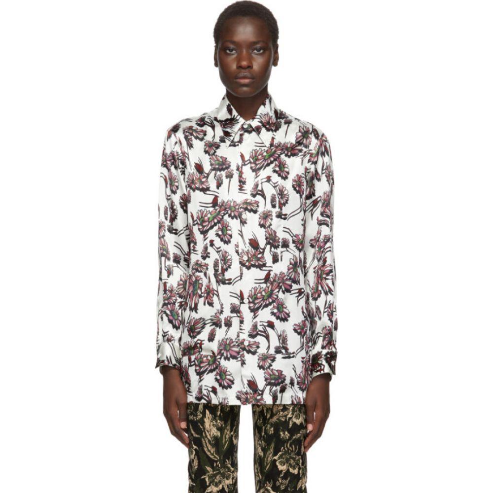 メゾン マルジェラ MM6 Maison Margiela レディース ブラウス・シャツ トップス【White Floral Print Shirt】White floral