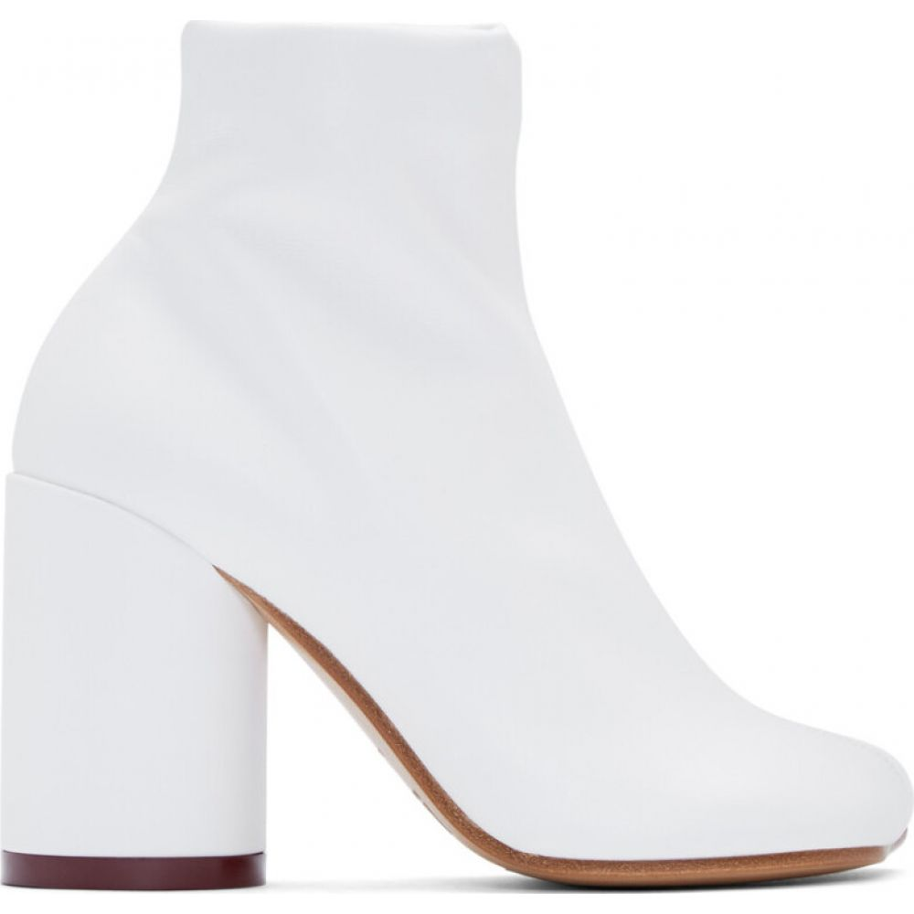 メゾン マルジェラ MM6 Maison Margiela レディース ブーツ シューズ・靴 White Toe Boots Bright white0N8nyvmwOP