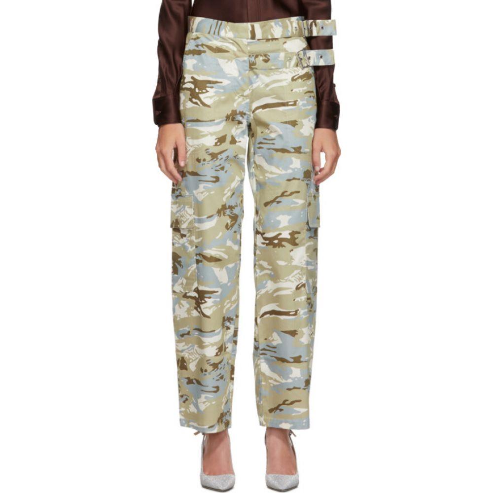 ミャオ Miaou レディース ボトムス・パンツ 【Grey & Blue Camouflage Daisy Trousers】Camo