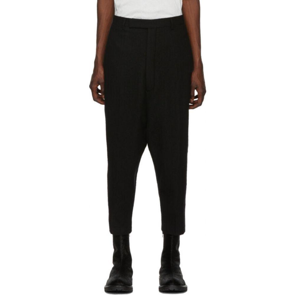 リック オウエンス Rick Owens メンズ クロップド ボトムス・パンツ【Black Karloff Cropped Trousers】Black