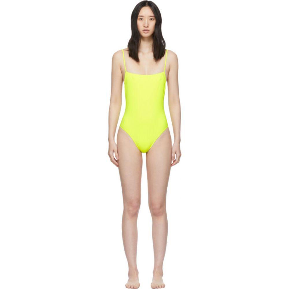 リド Lido レディース ワンピース 水着・ビーチウェア【Yellow Otto One-Piece Swimsuit】Tennis ball
