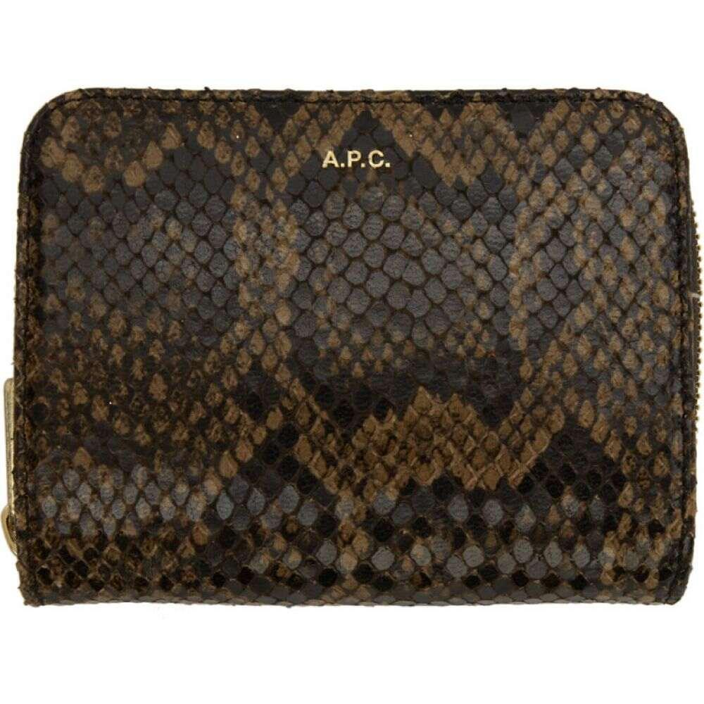 アーペーセー A.P.C. レディース 財布 【Brown Emmanuelle Compact Wallet】Dark brown