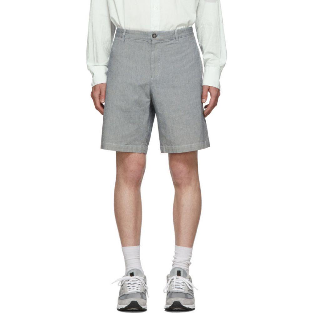 アーペーセー A.P.C. メンズ ショートパンツ ボトムス・パンツ【Black & White Pinstriped Christ Shorts】Near black