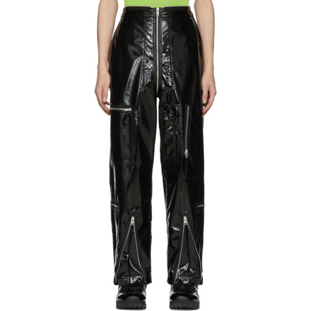 メゾン マルジェラ Maison Margiela メンズ ボトムス・パンツ 【black shiny coated zip trousesr】