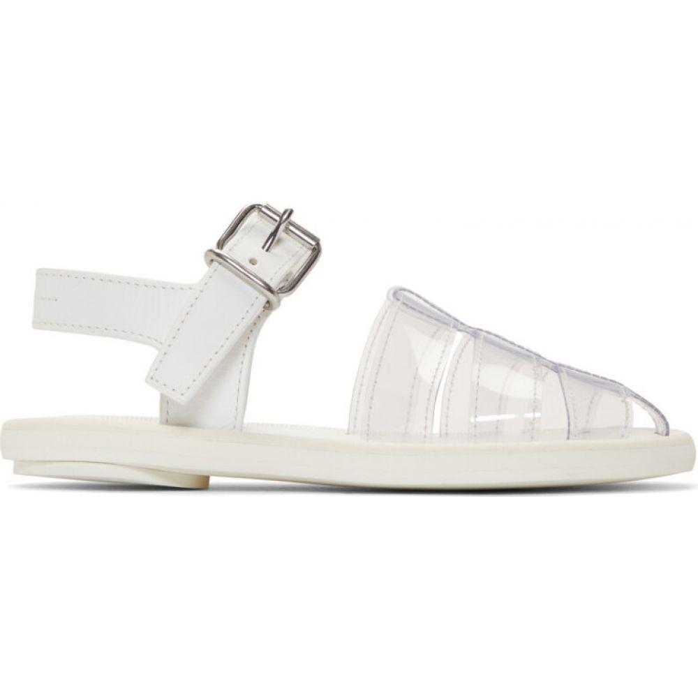 メゾン マルジェラ MM6 Maison Margiela レディース サンダル・ミュール シューズ・靴【white pvc pool slides】