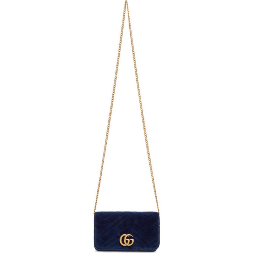 グッチ Gucci レディース ショルダーバッグ バッグ【blue velvet gg marmont 2.0 bag】