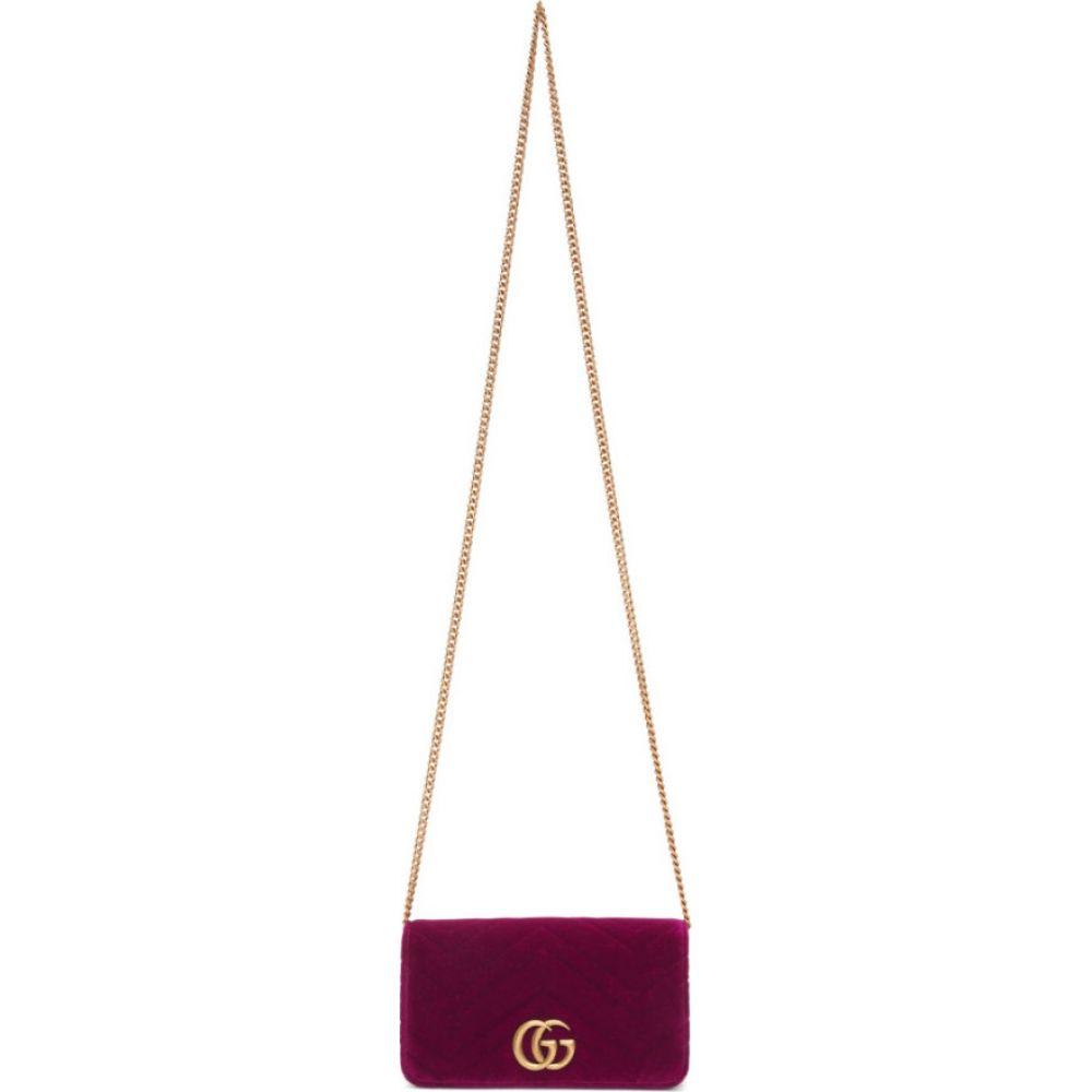 グッチ Gucci レディース ショルダーバッグ バッグ【purple velvet gg marmont 2.0 bag】