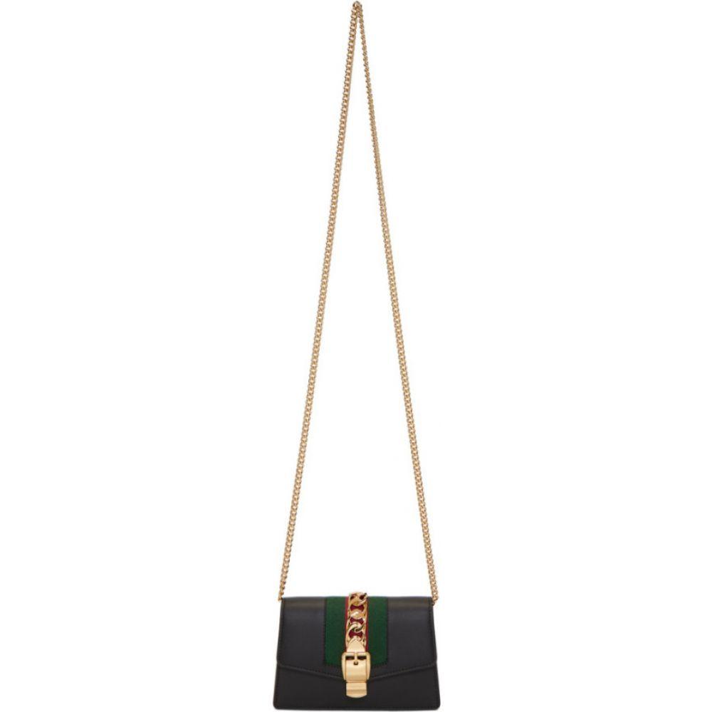 グッチ Gucci レディース ショルダーバッグ バッグ【black mini sylvie bag】