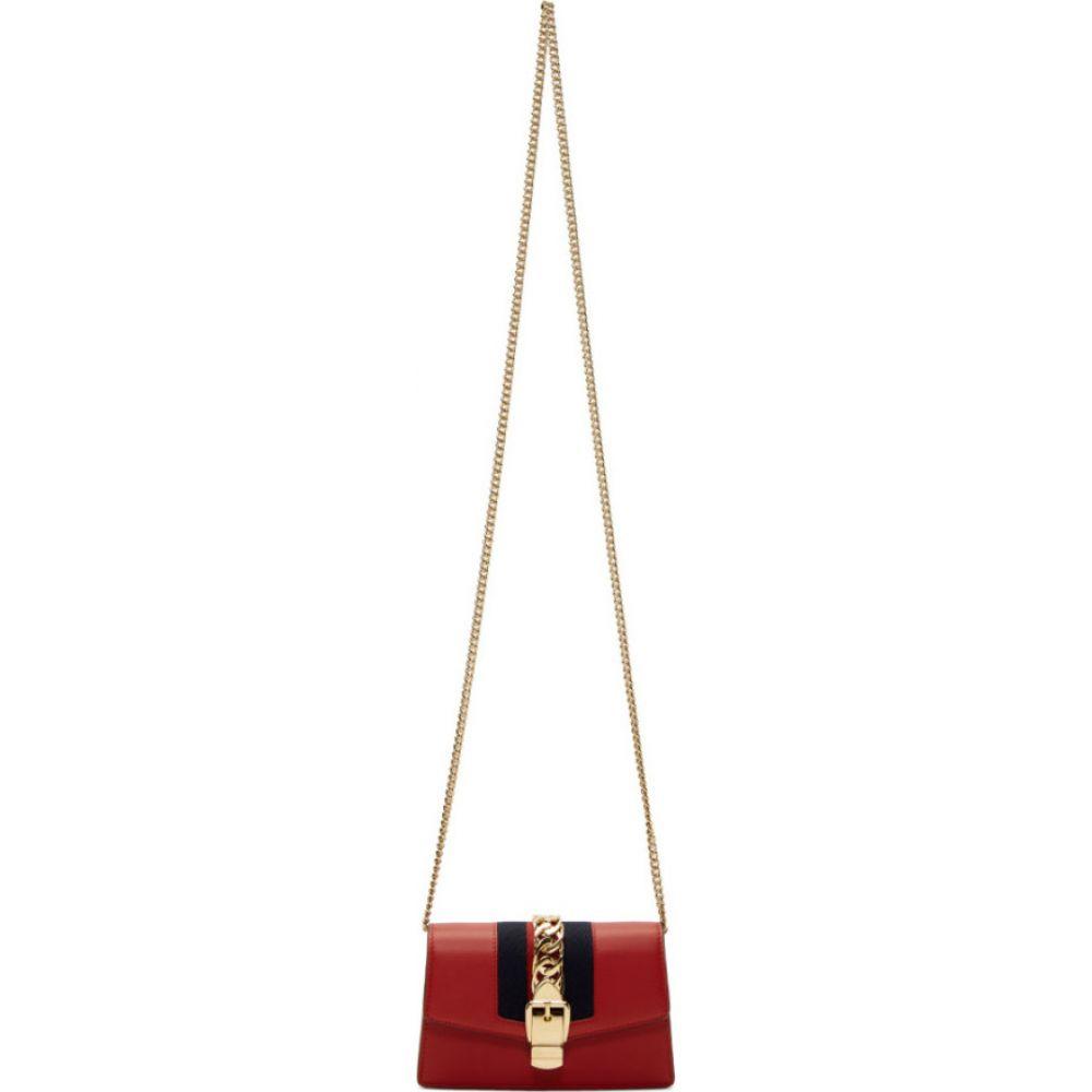 グッチ Gucci レディース ショルダーバッグ バッグ【red mini sylvie chain bag】