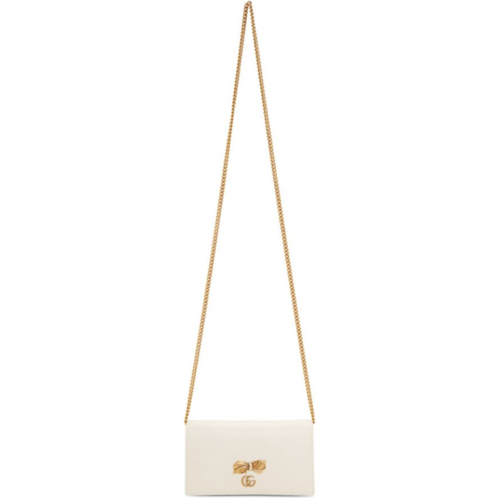グッチ Gucci レディース ショルダーバッグ バッグ【off-white bow chain wallet bag】
